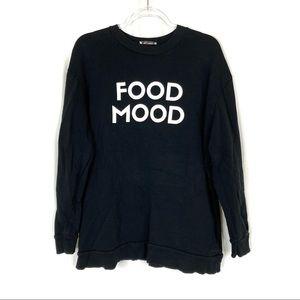 Zara Trafaluc   Food Mood Pullover Sweatshirt